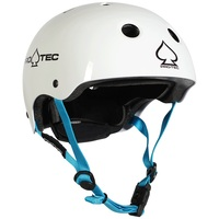 Protec Classic Junior Fit Certified Helmet Gloss White Small Pro-Tec