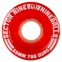 Sector 9 Nine Balls Wheels 58mm 78A Light Red