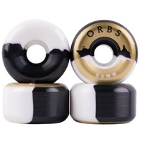 Welcome Skateboard Wheels Orbs Specters Black White 56mm 99A