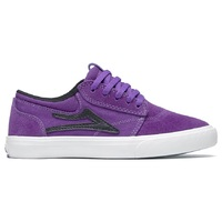 Lakai Kids Skate Shoes Griffin Black Purple Suede