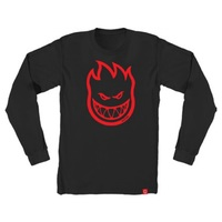 Spitfire Long Sleeve Shirt Bighead Black Red Extra Large
