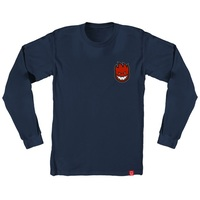 Spitfire Long Sleeve Shirt Bighead Fill Navy Extra Large