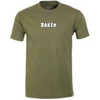 Baker Brand Logo T-Shirt Large Military Green