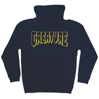 Creature Logo Outline Hoodie Large Navy