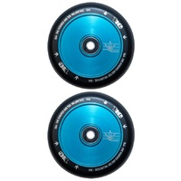 Envy 110mm Hollow Core Scooter Wheels Set Of 2 Teal