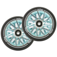 Aztek 110mm Scooter Wheels Set Of 2 Ermine Aqua