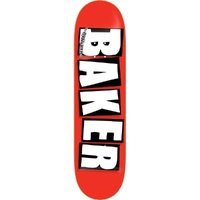 Baker Skateboard Deck 8.25 OG Logo White Red