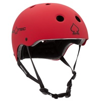 Protec Classic Bike Certified Helmet Matte Red Large Pro-Tec