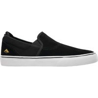 Emerica Mens Skate Shoes Wino G6 Slip On Black White Gold