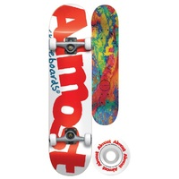 Almost Complete Skateboard Color Logo Premium Mini 7.375 Wide White