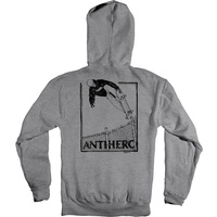 Anti Hero Lance Kanfoush Hoodie Mens Large Heather