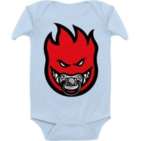 Spitfire Baby Paci Fire Blue Red Onesie 18 Month