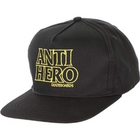 Anti Hero Black Hero Adjustable Hat Cap Black Yellow