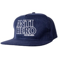 Anti Hero Black Hero Adjustable Hat Cap Navy White