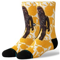 Stance Kids Socks Floral Chewie Yellow Large