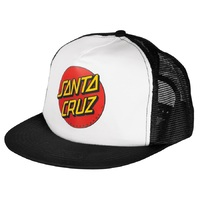 Santa Cruz Classic Dot Hat Trucker White