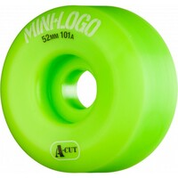 Mini Logo Wheels Green A Cut 54mm 101a