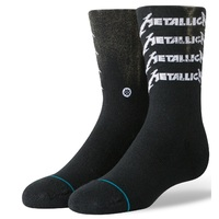 Stance Kids Socks Metallica Metal Cor Black Large