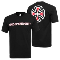 Independent Bar Cross T-Shirt Youth Size 14 Black