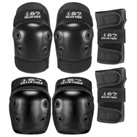 187 Six Pack Protective Pad Set Black Large To Extra Large