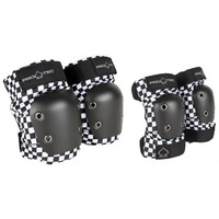 Protec Street Protective Pad Set Knee And Elbow Size Medium Checker