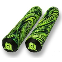 Madd Gear MGP 180mm Grind Scooter Grips Swirl Lime Black