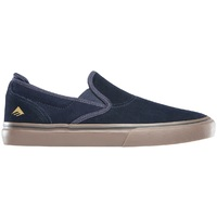 Emerica Mens Skate Shoes Wino G6 Slip On Navy Gum