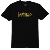 Deathwish Death Tag T-Shirt Large Black Yellow