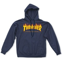 Thrasher Flame Logo Hoodie Extra Large Navy