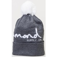 Diamond Supply Co Beanie OG Script Pom Charcoal