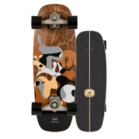 Carver Skateboard Complete Gray Ray With C7 Trucks Silver