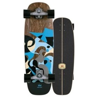 Carver Skateboard Complete Blue Ray With Cx Trucks Silver