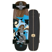Carver Skateboard Complete Blue Ray With C7 Trucks Silver
