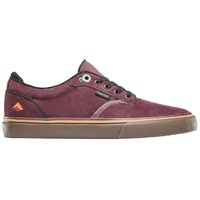 Emerica Mens Skate Shoes Dickson Burgundy Gum