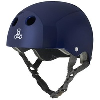 Triple 8 Brainsaver Sweatsaver Helmet Blue Metallic Size Small Skate Scooter