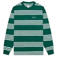 Polar Skate Co Shirt Striped Long Sleeve Dark Green Extra Large