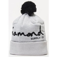 Diamond Supply Co Beanie OG Script Pom Grey