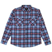 Brixton Bowery Flannel X-Large Casa Blanca Blue