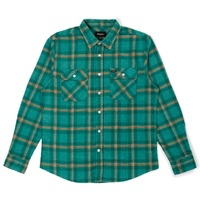 Brixton Bowery Flannel Medium Fern