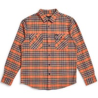 Brixton Bowery Flannel Small Salmon Navy