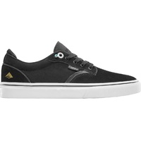 Emerica Mens Skate Shoes Dickson Black White Gold