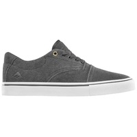 Emerica Mens Skate Shoes Provider Dark Grey White