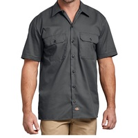 Dickies Short Sleeve Work Shirt Mens Extra Large Charcoal Gray