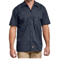Dickies Short Sleeve Work Shirt Mens Large Dark Navy