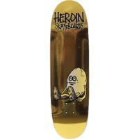 Heroin Skateboard Deck Golden Egg Shaped 9.125