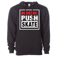 Kick Push Midweight Hoodie Mens Small Black