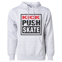 Kick Push Midweight Hoodie Mens Medium Grey