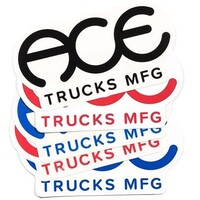 Ace Sticker 3 Inch Rings Logo Red x 1