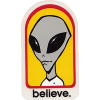 Alien Workshop - Believe Sticker Yellow