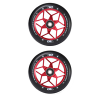 Envy Diamond 110mm Scooter Wheels Set Of 2 Red
